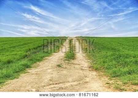 Uphill Rural Road