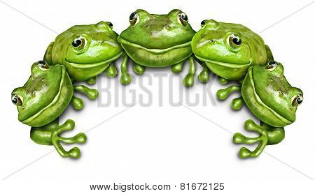 Frog Group Sign