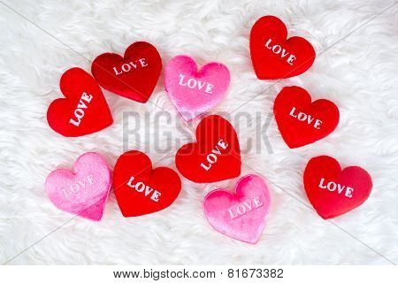 Decorated Gifts With A Heart Shapes And Text