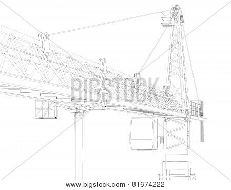 Tower crane, top