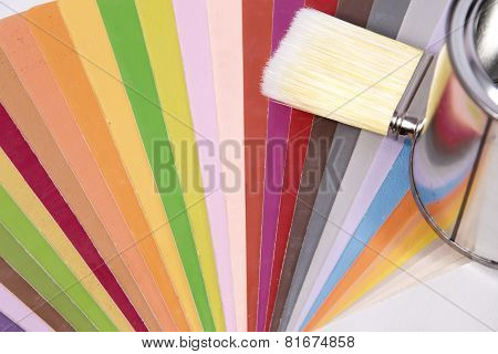 Brush Over Color Swatches