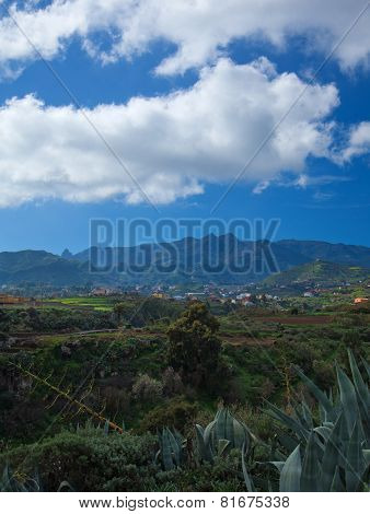 Inland Gran Canaria, View Towards Central Mountains