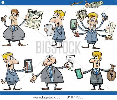 Businessmen Cartoon Set