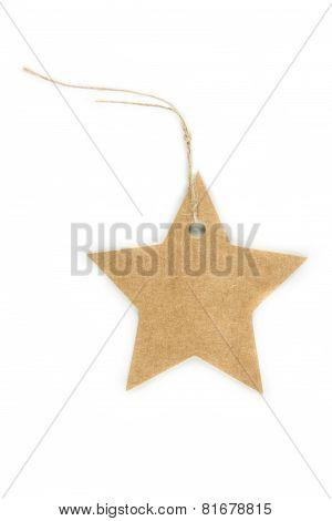 A Paper Star Tag
