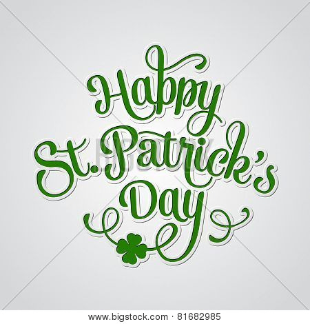 Typographic Saint Patrick's Day Greeting Card