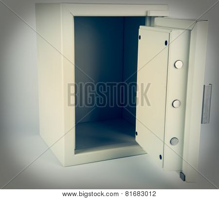 A Safe With Door Open