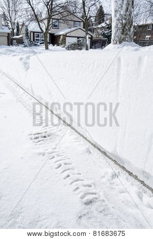 Snow Accumulation on a Driveway