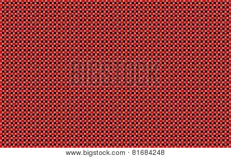 Red Basket Weave Background
