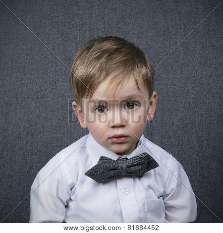 Portrait Of A Little Boy With Bowtie