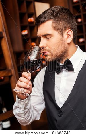 Testing Wine.