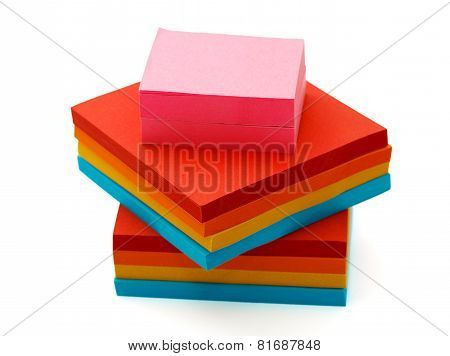 Pile Of Stickers Isolated On A White Background