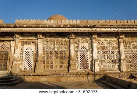 Facade Of Sarkhej Roza Mosque In Ahmedabad