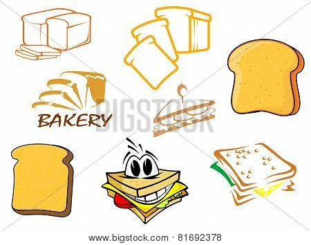 Toasts and bread icons