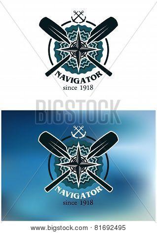 Marine navigator emblem or badge