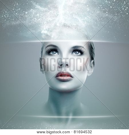 Abstract Futuristic Woman