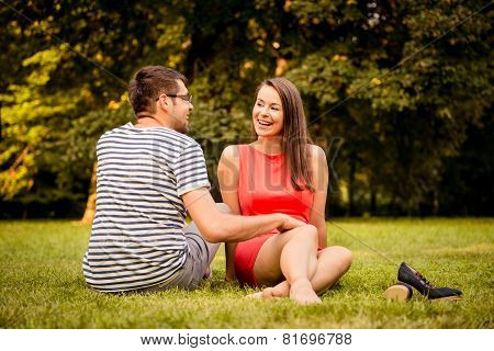 Young couple tdating