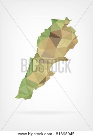 Low Poly map od Lebanon