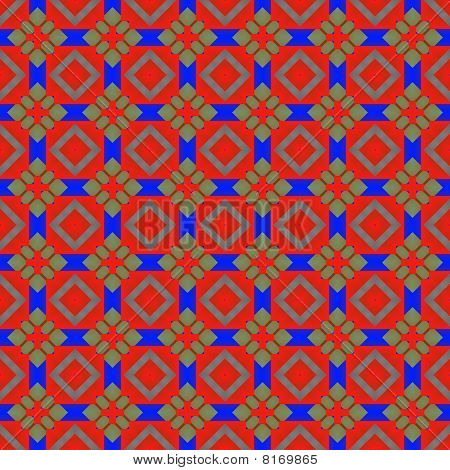 Red And Blue Holiday Pattern