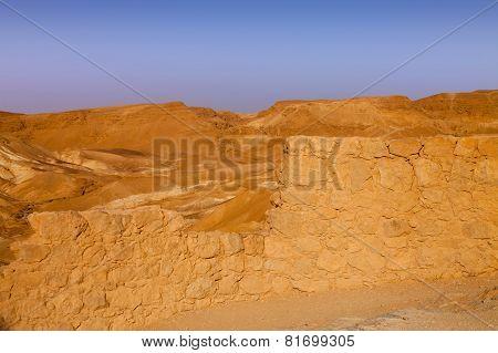 Sunrise View From Massada Fortress