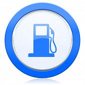 stock photo of petrol  - petrol icon gas station sign  - JPG