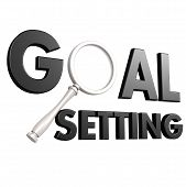 foto of goal setting  - Goal setting image with hi - JPG