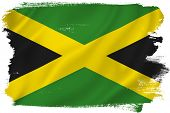 picture of jamaican flag  - Jamaica flag backdrop background texture isolated on white - JPG