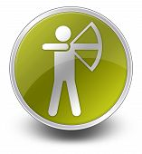 pic of archery  - Image Graphic Icon Button Pictogram with Archery symbol - JPG