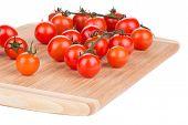 pic of fruit platter  - Juicy organic cherry tomatoes on platter - JPG