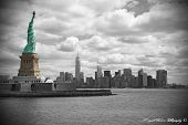 stock photo of statue liberty  - Statue of Liberty from the Ferry in New York City - JPG