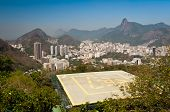 foto of olympic mountains  - Skyline of Rio de Janeiro with Corcovado - JPG