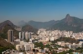 stock photo of olympic mountains  - Skyline of Rio de Janeiro with Corcovado - JPG