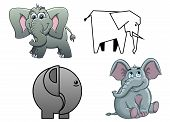 pic of elephant ear  - Cute cartoon baby elephants  - JPG