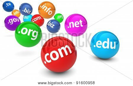 Domain Name Website Concept