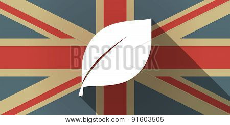 Uk Flag Icon With A Leaf