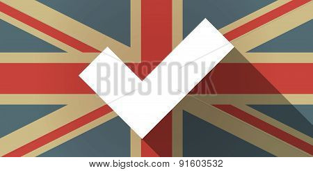 Uk Flag Icon With A Check Mark