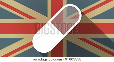 Uk Flag Icon With A Pill