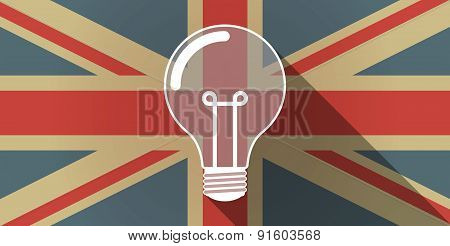 Uk Flag Icon With A Light Bulb