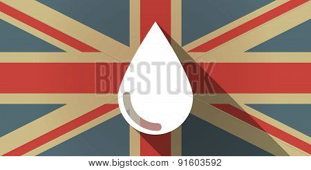 Uk Flag Icon With A Blood Drop