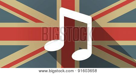 Uk Flag Icon With A Music Note