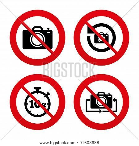 Photo camera icon. Flip turn or refresh signs.