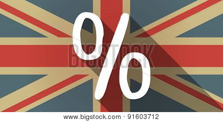 Uk Flag Icon With A Discount Sign