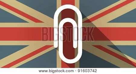 Uk Flag Icon With A Clip
