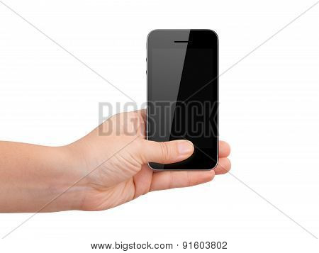 Mobile Phone Holding By Hand