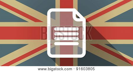 Uk Flag Icon With A Document