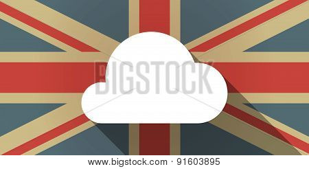 Uk Flag Icon With A Cloud