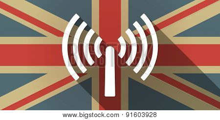 Uk Flag Icon With An Antenna
