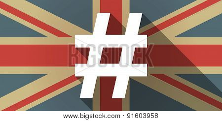 Uk Flag Icon With A Hash Tag