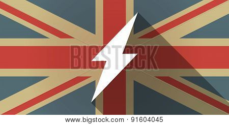 Uk Flag Icon With A Lightning