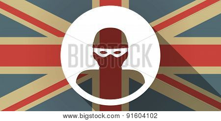 Uk Flag Icon With A Thief