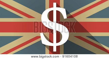 Uk Flag Icon With A Dollar Sign